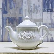 Заготовки для декупажа и росписи ручной работы. Ярмарка Мастеров - ручная работа Чайник керамический для заваривания чая. Handmade.