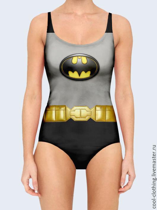 """Слитные купальники ручной работы. Ярмарка Мастеров - ручная работа. Купить Купальник """"Бэтмен"""". Handmade. Подарок девушке, подарок дочери"""