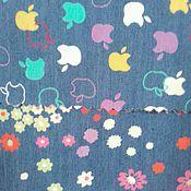 Ткани ручной работы. Ярмарка Мастеров - ручная работа ткань джинс плательный  голубой С 75  ,2вида. Handmade.