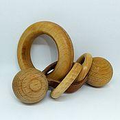 Куклы и игрушки ручной работы. Ярмарка Мастеров - ручная работа Деревянная игрушка погремушка Моторика. Handmade.