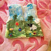 Работы для детей, ручной работы. Ярмарка Мастеров - ручная работа Валяная жилетка.. Handmade.