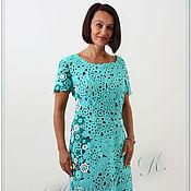 Одежда ручной работы. Ярмарка Мастеров - ручная работа платье Лазуревый цвет. Handmade.