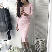Одежда ручной работы. Ярмарка Мастеров - ручная работа Платье лапша в нежном розовом цвете. Handmade.