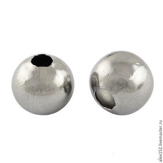Для украшений ручной работы. Ярмарка Мастеров - ручная работа. Купить 50 шт шарик 4 мм нержав. сталь (  темный цвет). Handmade.