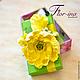 Подарочная упаковка ручной работы. Заказать Подарочная коробочка с желтыми маками.. Flor-ina handmade (Ирина). Ярмарка Мастеров. глина