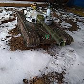 """Техника, роботы, транспорт ручной работы. Ярмарка Мастеров - ручная работа танк Т-72 """"белая ворона"""". Handmade."""