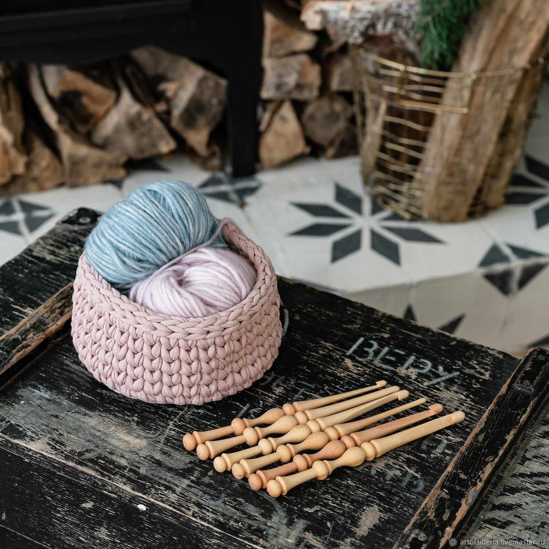 Set Of hooks for knitting from Siberian cedar (6 pieces 4-9 mm.) KN22, Crochet Hooks, Novokuznetsk,  Фото №1