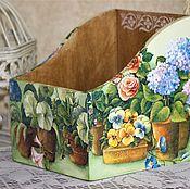 """Для дома и интерьера ручной работы. Ярмарка Мастеров - ручная работа Короб """" Цветочное ассорти"""".. Handmade."""