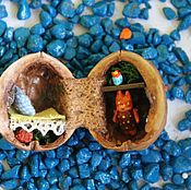 Куклы и игрушки ручной работы. Ярмарка Мастеров - ручная работа Лисенок в домике. Handmade.