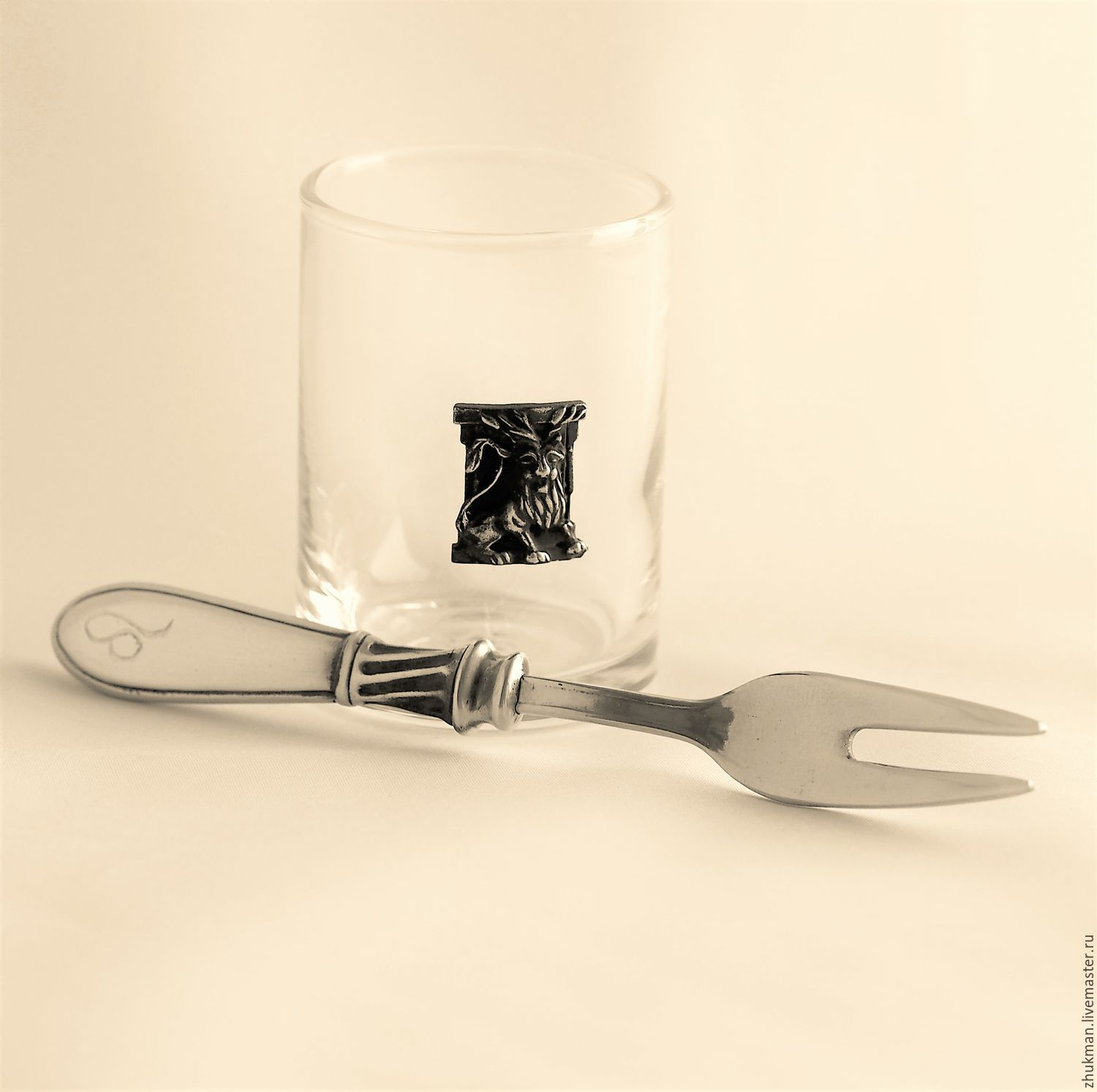 Set 'Zodiac Signs. Lion ' stack and snack fork, Gifts for February 23, Zhukovsky,  Фото №1