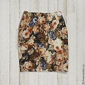 Одежда ручной работы. Ярмарка Мастеров - ручная работа Юбка с цветами. Handmade.