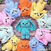 Мягкие игрушки ручной работы. Ярмарка Мастеров - ручная работа Маленькие плюшевые зайчики. Handmade.