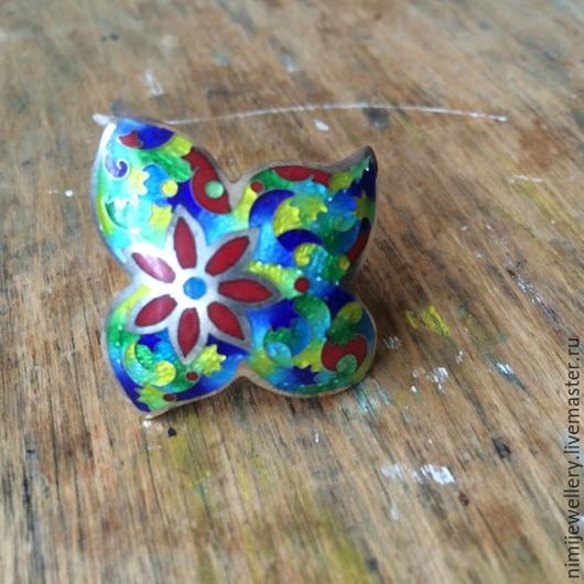"""Кольца ручной работы. Ярмарка Мастеров - ручная работа. Купить Кольцо """"Цветок"""". Handmade. Подарок, кольцо, бирюзовый"""