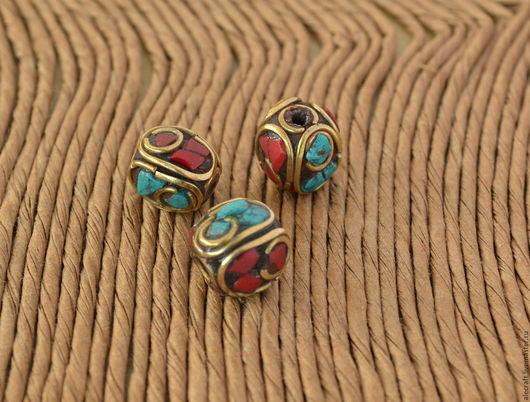 Для украшений ручной работы. Ярмарка Мастеров - ручная работа. Купить Бусина Тибет 9-10мм. Handmade. Комбинированный