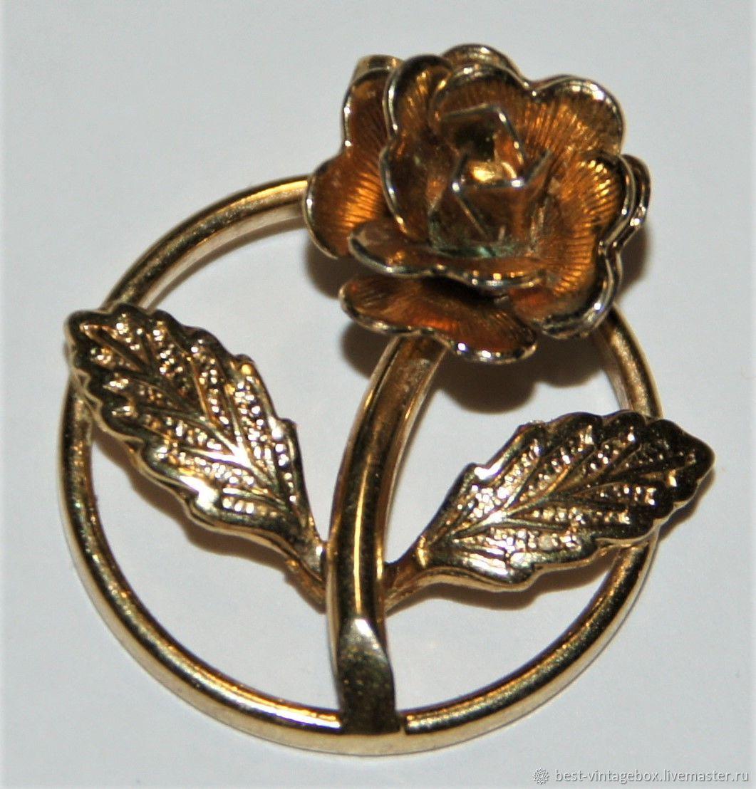 Винтаж: Изящный кулон Золотая роза от Monet, 60е года, Кулоны винтажные, Москва,  Фото №1
