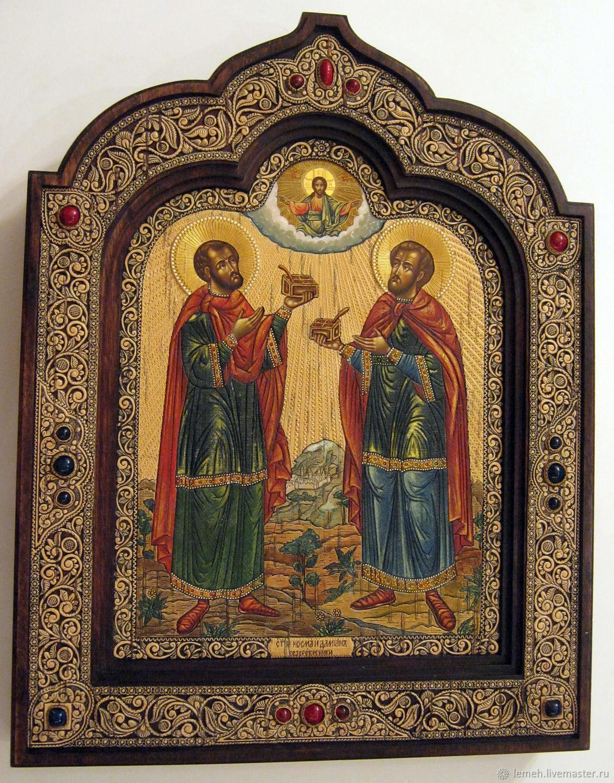Икона Косма и Дамиан (Кузьма и Демьян), Иконы, Нижний Новгород,  Фото №1