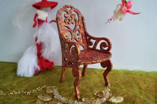 Детская ручной работы. Ярмарка Мастеров - ручная работа. Купить Трон для принцессы из серии мебель для кукол. Handmade. Мебель для кукол