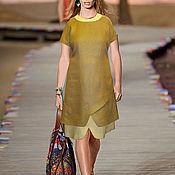 Одежда ручной работы. Ярмарка Мастеров - ручная работа Комплект: льняное платье песочного цвета + льняное платье бежевого цве. Handmade.