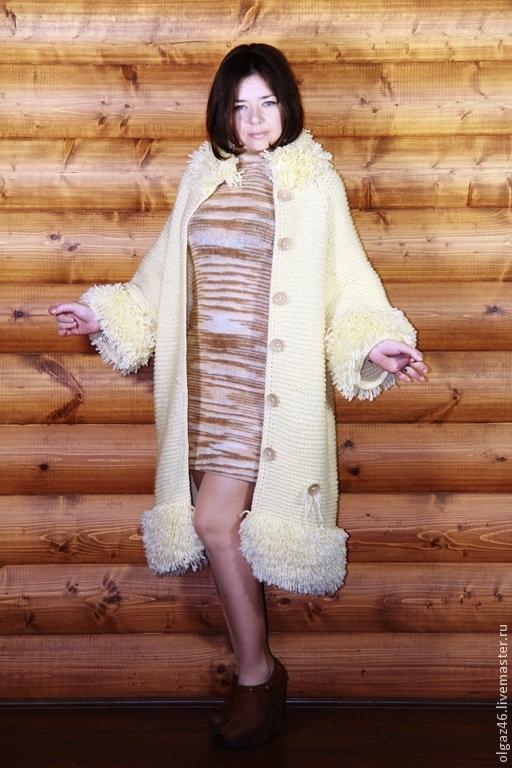 Верхняя одежда ручной работы. Ярмарка Мастеров - ручная работа. Купить Пальто вязанное. Handmade. Вязанное, вязанный мех