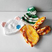 Работы для детей, ручной работы. Ярмарка Мастеров - ручная работа Набор шапочек для фотосессии малыша. Handmade.