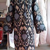 Одежда handmade. Livemaster - original item Silk quilted coat of ikat. Uzbek chapan. boho coat. Handmade.