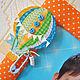 Детская ручной работы. Интерьерная фоторамка Полет на воздушном шаре Тканевая В детскую Декор. Скрап-Мельница. Семейные подарки (scrap-melnica). Интернет-магазин Ярмарка Мастеров.