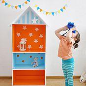 Для дома и интерьера ручной работы. Ярмарка Мастеров - ручная работа Дом полка для хранения в детской. Handmade.