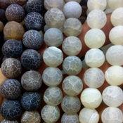 """Бусины ручной работы. Ярмарка Мастеров - ручная работа Агат """"Кракле"""" натуральный, матированный, шар 10 мм.. Handmade."""