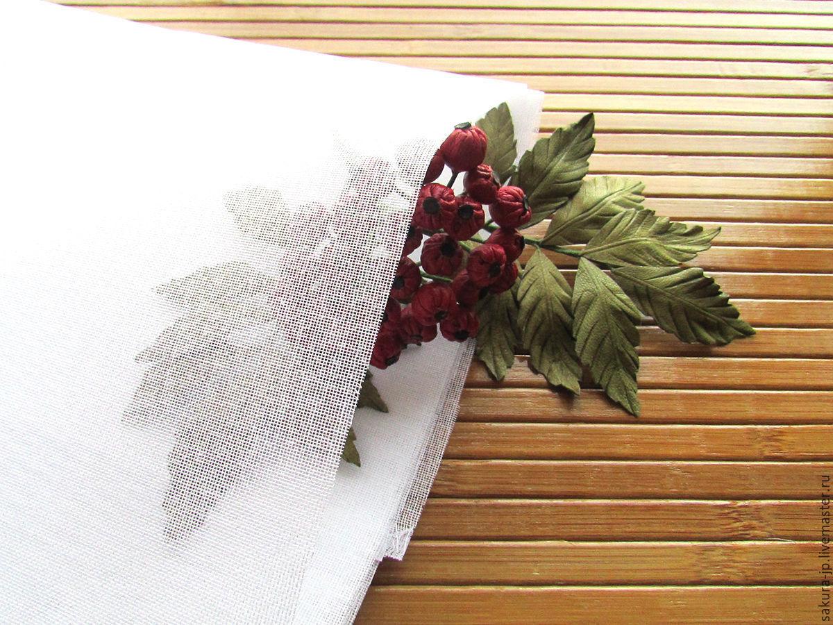 Gauze. Japanese fabric flowers. SAKURA - materials for citadele.