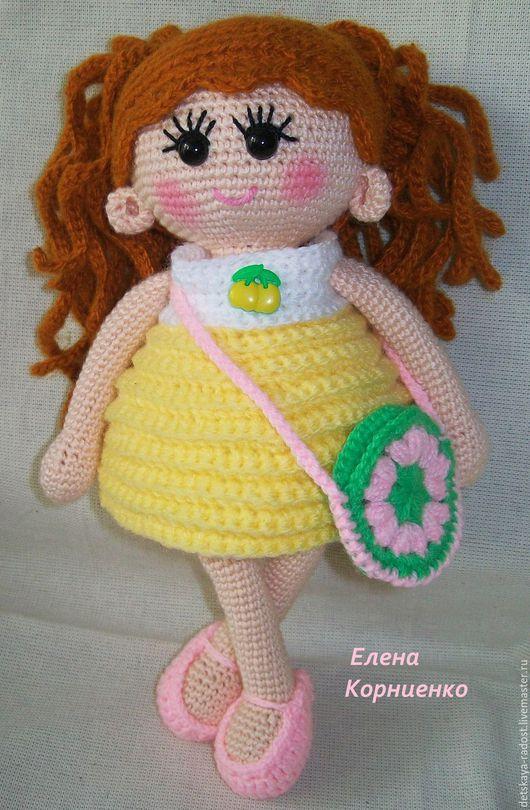 Человечки ручной работы. Ярмарка Мастеров - ручная работа. Купить Вязаная кукла Пампошка. Handmade. Желтый, кукла для детей
