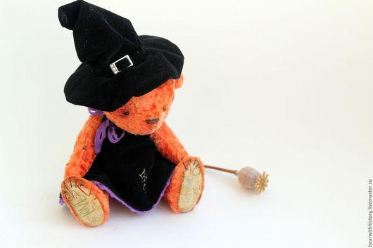 Мишки Тедди ручной работы. Ярмарка Мастеров - ручная работа. Купить Ведьмочка. Мишка к Хеллоуину.. Handmade. Мишка, halloween, ведьмочка