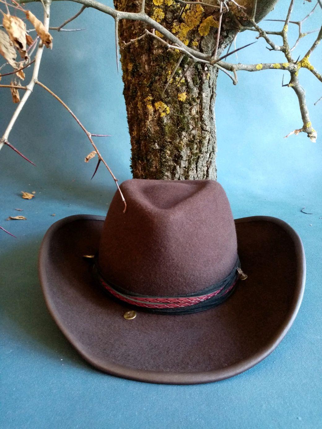 """Шляпа Федора """"Шоколадный ковбой"""", Шляпы, Орехово-Зуево,  Фото №1"""