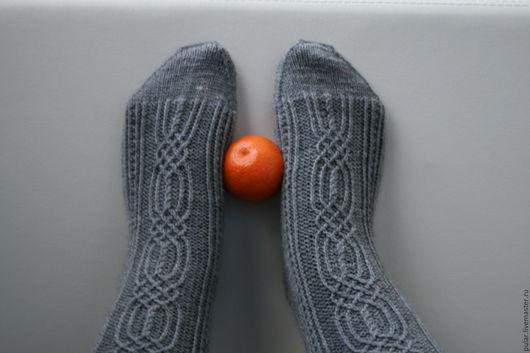 Носки, Чулки ручной работы. Ярмарка Мастеров - ручная работа. Купить шерстяные носки Цепочки и решетки. Handmade. Носки