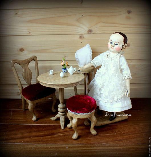 Коллекционные куклы ручной работы. Ярмарка Мастеров - ручная работа. Купить Джейн. Мини-кукла в стиле Izannah Walker. Handmade.