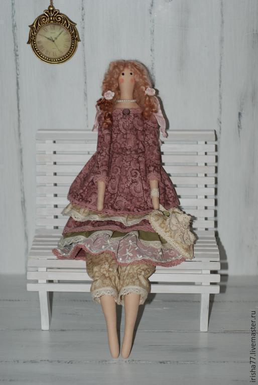 Куклы Тильды ручной работы. Ярмарка Мастеров - ручная работа. Купить Интерьерная текстильная кукла Тильда в винтажном стиле Бланш.. Handmade.