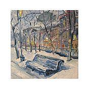 Картины и панно handmade. Livemaster - original item Winter Petersburg oil on canvas. Handmade.