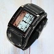 """Часы наручные ручной работы. Ярмарка Мастеров - ручная работа Мужские наручные часы - """"Часовщик рисовал"""". Handmade."""