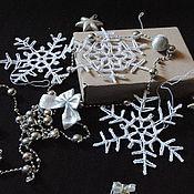 Подарки к праздникам ручной работы. Ярмарка Мастеров - ручная работа Снежинка. Handmade.