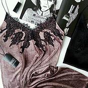 Одежда ручной работы. Ярмарка Мастеров - ручная работа Платье комбинация Болтон из натурального бархата на новый. Handmade.