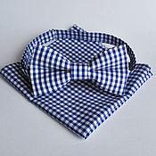 Аксессуары handmade. Livemaster - original item Blue tie plaid Provence blue pocket square Pasha. Handmade.