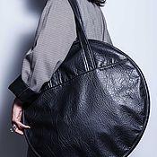 Сумка-шоппер ручной работы. Ярмарка Мастеров - ручная работа Большая круглая сумка из экокожи Big Circle Сумка шоппер. Handmade.