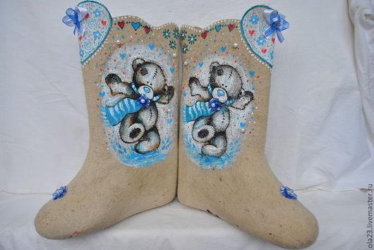"""Обувь ручной работы. Ярмарка Мастеров - ручная работа. Купить Валенки """"ТЕДДИ"""" (в ассортименте). Handmade. Белый, зима"""