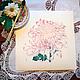 Розовая хризантема. Серия Хризантемы. Рис.3, акварель, размер 17см*17см, бумага Canson 100% хлопок 300 г/м2, Светлана Маркина, LechuzaS