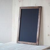 Дизайн и реклама ручной работы. Ярмарка Мастеров - ручная работа Меловая грифельная доска в деревянной раме. Handmade.