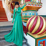 Одежда handmade. Livemaster - original item Winter dress Malachite. Handmade.