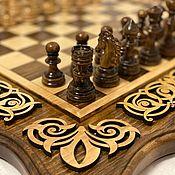 Активный отдых и развлечения handmade. Livemaster - original item Chess carved 3in1