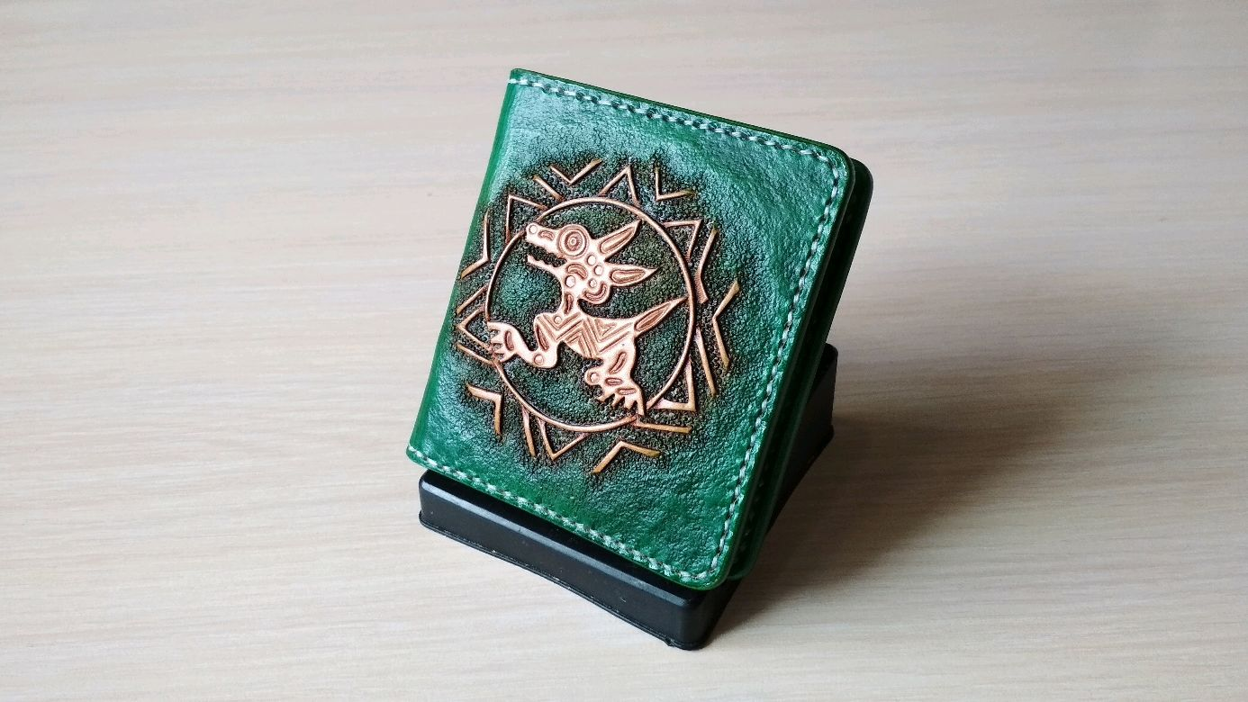 Leather cardholders, wallet, business card holder, monogram, personal, Business card holders, Yoshkar-Ola,  Фото №1