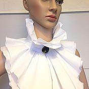 Аксессуары handmade. Livemaster - original item Accessories kits: Removable Frill and Cuffs / white, cotton. Handmade.