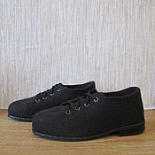 Обувь ручной работы. Ярмарка Мастеров - ручная работа Войлочные туфли Мокко. Handmade.
