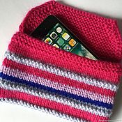 Сумки и аксессуары handmade. Livemaster - original item Knitted cover for iphone se 3, 6, 6plus, 7, 7plus, 8, 8plus, x. Handmade.